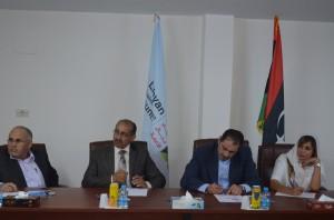 اجتماع أكاديمية أيلا للطيران والتدريب بالمجلس الليبي لرجال الأعمال